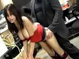 Busty Hot Asian Secretary Damiyana Fucked at the Office
