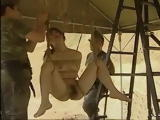 Trapped Asian Chick By Military Bondage And Hard Fucked Outdoor