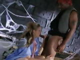 Desperate Ciderella blows for a hunk black man for a ride