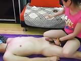 Chines femdom handjob