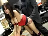 Busty Hot Asian Secretary Damiyana Fucked at the Office