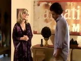 Blonde cougar tongued and smashed by her sweethearts bf