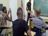Group Of Black Guys Are So Lucky To Have Busty Milf Teacher Like This