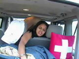 Cute Ebony German Waitress Agrees For A Quick Car Sex For Some Extra Cash
