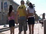 Naive Teens Tricked By Elder Guy And Taken At His House To Have Hot Threesome