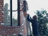Hot Super Model Fucks On Porch