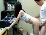 Amateur Asian College Teen Doggy Style Fuck in Dorm Room
