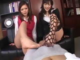 Double Nylon Footjob