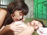 Japanese Gothic Foot Worship and Lesbian Sex