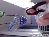 Shy babe from Japan pees on floor during multiple occasions